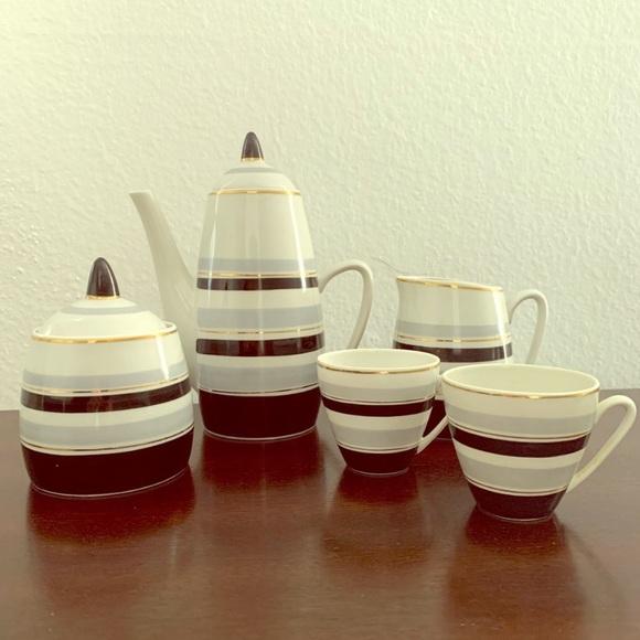 Vintage Tea Set w gold trim